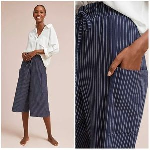 Anthropologie Stonington Striped Wide Legs Pants S